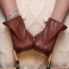 Ladies Woman Genuine Nappa Leather Dress Warm Gloves Many Color On Sale #085