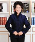 BL blue Chinese Style cotton embroider Women's Jacket/Coat sz:6.8.10.12.14.16
