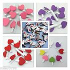 20 x Mini Heart Pegs, wooden wedding table place card holders shabby craft heart