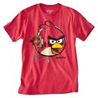Men's Angry Birds Graphic Tee T-Shirt Short Sleeve Tagless Red by Fifth Sun NWT!