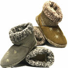 Ladies Womens Cosy Warm Soft Fur Winter Ankle Booties Boots Slippers Shoes Size