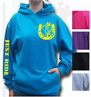 HORSE,RIDING t-shirt KIDS & ADULT`S HOODIE BREAST LOGO & JUST RIDE SLEEVE