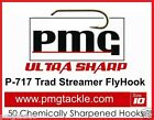 50 PMG P-717 ULTRA SHARP Traditional Streamer Fly-Hooks