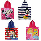 Disney Mickey, Minnie, Jake, or Princess Poncho Towel ONE SIZE Holiday Travel