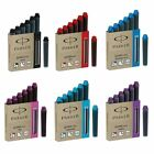 Parker MINI Short Quink Ink Cartridges for Fountain Pens - New - All Colours