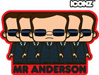 ICONZ CARTOON TEE SHIRT MR ANDERSON THE MATRIX HACKER KEANU REEVES