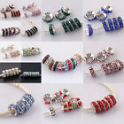 NEW~Wholesale Crystal Big Hole 18KGB European Charm Beads Fit Bracelet PB354-368