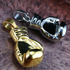 Men's Boxer Heavy Boxing Glove Necklace Pendant Stainless Steel Gold Silver Tone