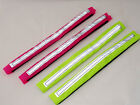 Fluorescent hi viz bridle straps - yellow or pink - for horse riding