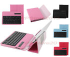 Bluetooth Keyboard Portfolio Leather Case For 9-10.1 Android iOS Windows Tablet