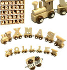 WOODEN NAME TRAIN LETTERS PERSONALISED NAMES BIRTHDAY CHILD CHRISTENING GIFT TOY