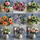 Rose Peony Craft Retro Bridal Home Silk Flowers Decoration Wedding Party Floral