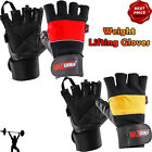 Half Finger Weight Lifting Gloves Leather Palm Gym Training Wrist Support Gel