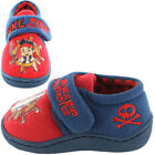 Boys Size 4 - 10 Blue Red JAKE AND THE NEVERLAND PIRATES Velcro Slippers NEW