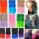 "12Colors 19"" Rainbow Women's Neon Tangle Curly Clip in Hair Extension Ponytail"
