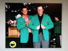 GOLF GREATS TIGER WOODS PHIL MICKELSON MASTERS WIN GREEN JACKET PHOTO