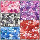 100 Superior Wooden Acrylic Resin Embellishment Buttons Cardmaking Scrapbooking