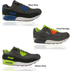 MENS RUNNING TRAINERS CASUAL LACE AIR WALKING BOYS GENTS SPORTS SHOES SIZE 7-12