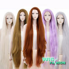 """20""""-39"""" Long Straight Brown / Purple / Blonde Lace Front Yaki Synthetic Wig"""
