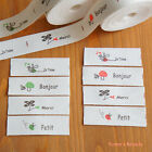 2 Yards: Cut & Sew Labels/ Zakka Mushroom Bee Ladybug & French 15mm 2-color