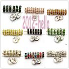 Wholesale 100pcs Rondelle Beads Crystal Rhinestone Spacer Beads Findings,8MM