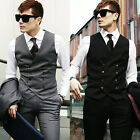 New Mens Casual Double breasted Slim Fit Suit Dress Vest Waistcoat Top