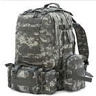 Outdoor 50L Military Tactical Backpack Rucksacks Sport Camping Travel Hiking Bag
