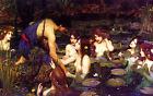 William Waterhouse Hylas and the Nymph Pre-Raphaelite Canvas Art Print Painting