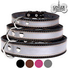 Leather Dog Collar Optional Personalized Laser Engraved ID TAG Puppy S M L XL