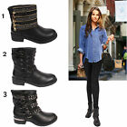 LADIES BLACK FAUX LEATHER WOMENS FLAT PULL ON ANKLE CHELSEA GRIP SOLE BOOTS