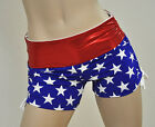 Wonder Woman America Hot Yoga Shorts Workout Pole Fitness Roller Derby Low Rise