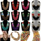 New Fashion Hand Nail Mini Seed Beads Mixed Colors Cluster Pendant Necklace Long