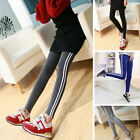 Cotton Women's Girl Side Stripes Yoga Sports Stretched Trousers Pants