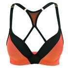 Ladies' Push Up Cool Comfort Underwired Racer Back Sports Bra  32-38 A B C