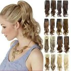 22'' Long Wave Curly Hair Piece Steel Synthetic Ponytail Ribbon Hair Extension