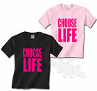 CHOOSE LIFE, 80`S T SHIRT KIDS ALL SIZES, FANCY DRESS