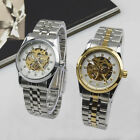 Business Casual Womens Automatic Mechanical Wristwatch Stainless Steel Hollow