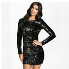 Womens Black Sexy Shinning Dress Night-Club Outwear Ladies Dancing Clothes