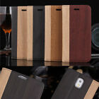 Luxury Wooden Design Phone Case For Samsung Galaxy S5 Flip Leather Cover