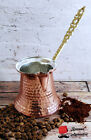 Turkish Coffee Pot, 100% Solid Hammered Copper, Handmade Cezve, ibrik, Jezve