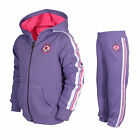 CONVERSE All Star Chuck Fleece Toddler Girls Tracksuit Purple