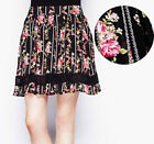 HELL BUNNY Georgina Skirt Peasant w Lace Floral Rockabilly Pin Up Boho Mini