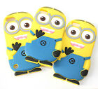 For Apple - Soft Silicone Rubber Skin Case Cover Yellow 3D Despicable Me Minion