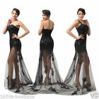 New Long Maxi Bridesmaid Wedding Prom Party Cocktail Ball Gown Dress *UK SELLER*