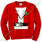 New Santa Claus Costume Red Sweatshirt Outfit Funny Ugly Christmas Sweater