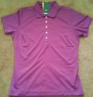 Nike Golf Tour Performance Tech Pique Polo Shirt Womens S M Purple 635388 549