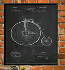Penny Farthing Bicycle Patent Wall Art Cycling Poster Print Christmas Gift