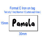 50x Custom iron on name tag clothing label garment school Personalized Tapes