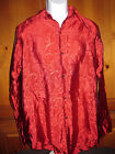Men's Shirt Funhouse Satin Medival Gothic Victorian Red/Black One Size NWT Goth