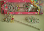 NEW WAND AND TIARA SET - GIRLS DRESS UP ACCESSORIES 3399